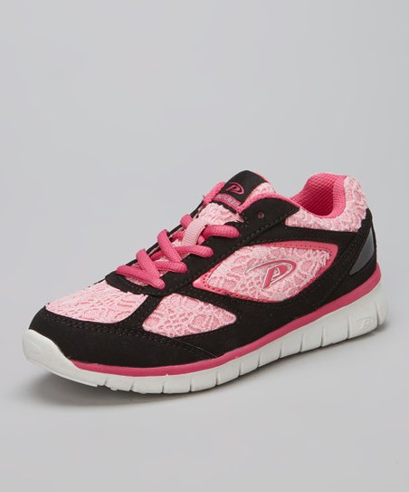 Black & Light Pink Annabell Sneaker