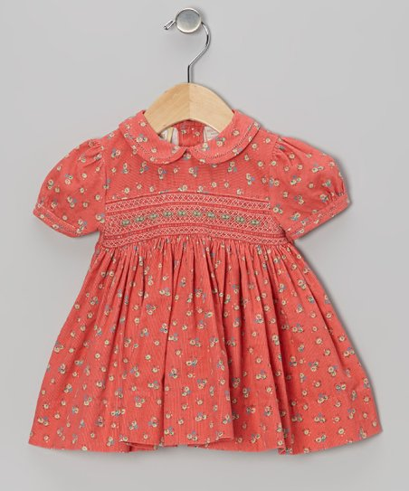 Coral Floral Smocked Dress - Infant & Girls