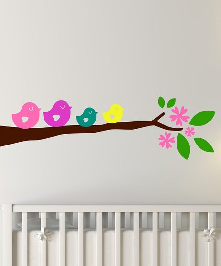 Bright Birdie Branch Wall Decal