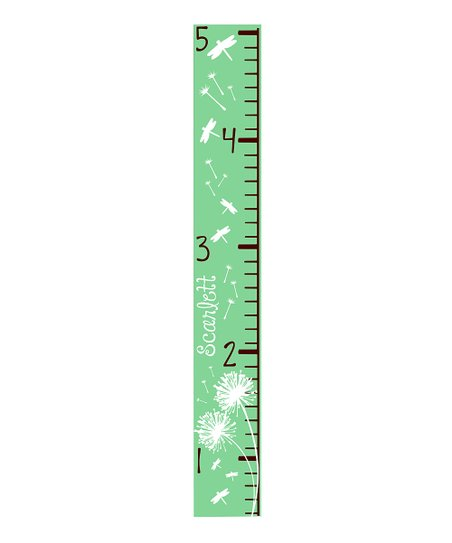 Sage Dandelion &amp; Dragonfly Personalized Growth Chart