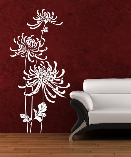White In Bloom Wall Decal