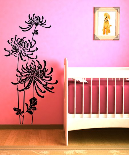 Black In Bloom Wall Decal