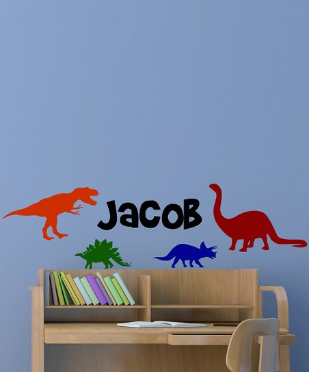 Dinosaurs Personalized Wall Decal