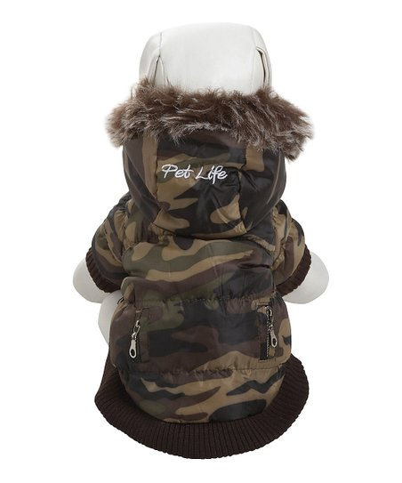 Green Camo Removable Hood Fashion Parka