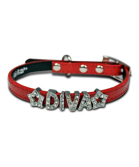Red 'Diva' Bling Collar
