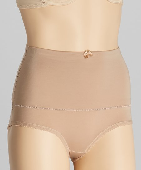 Natural Bow High-Waisted Control Briefs - Women & Plus