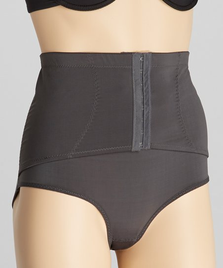 Gray Corset Control Briefs - Women & Plus