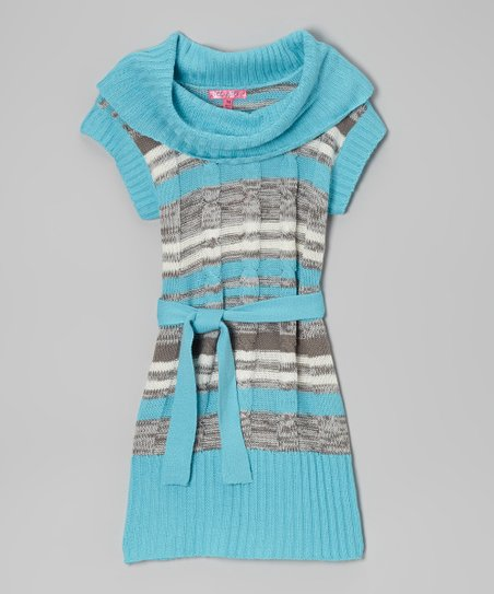 Bluebell & Gray Belted Cowl Neck Dress - Toddler