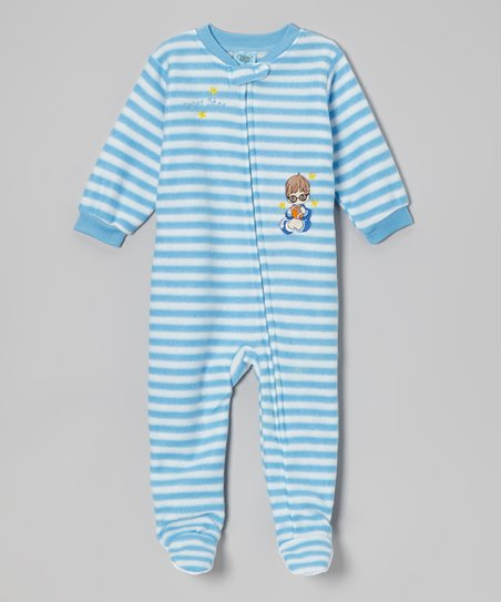 Blue Stripe Footie - Infant & Toddler