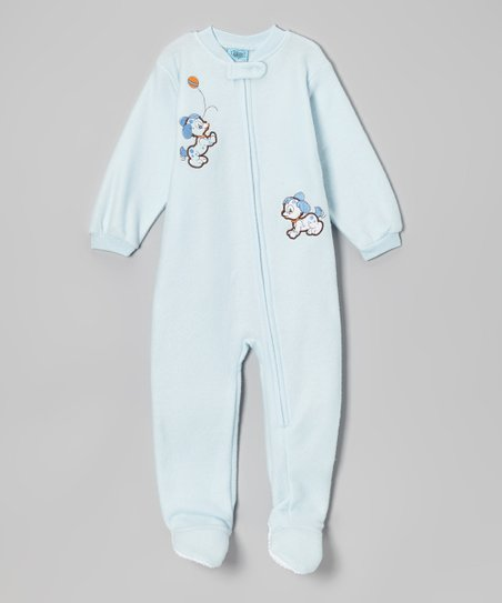 Light Blue Puppy Footie - Infant & Toddler