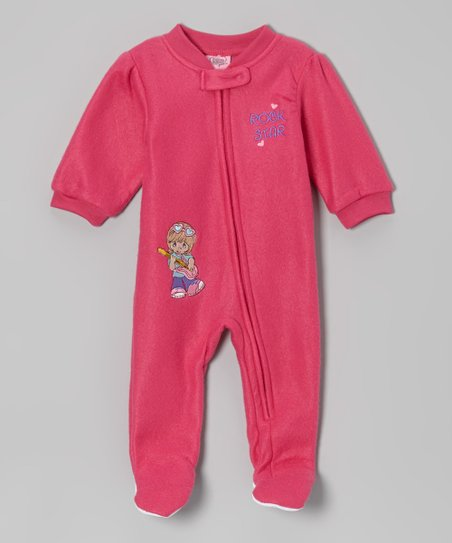 Coral 'Rockstar' Footie - Infant & Toddler