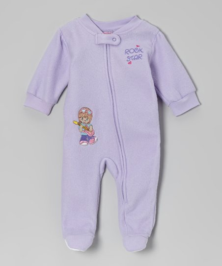 Lavender 'Rockstar' Footie - Infant & Toddler