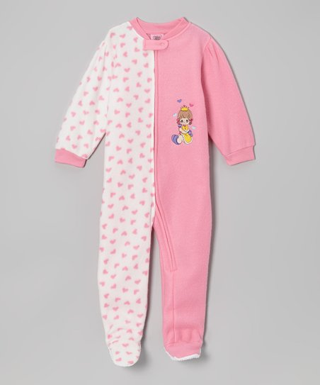 Pink Heart Footie - Infant & Toddler