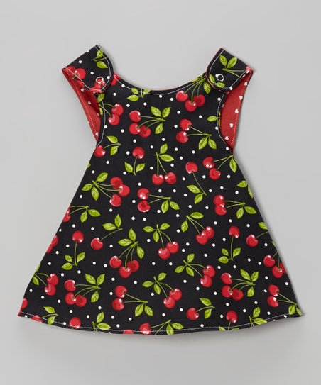 Black Cherry Reversible A-Line Dress - Infant, Toddler & Girls
