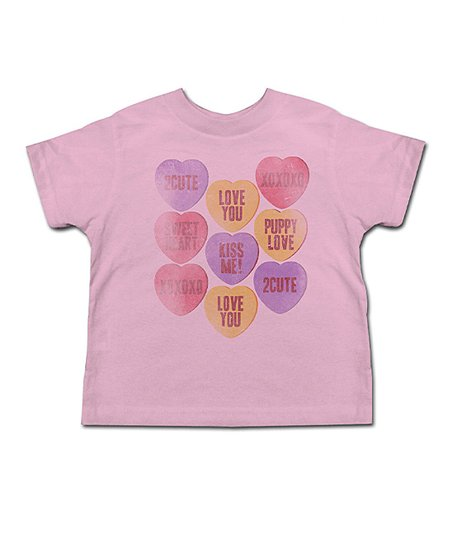 Light Pink Candy Hearts Tee - Toddler & Girls