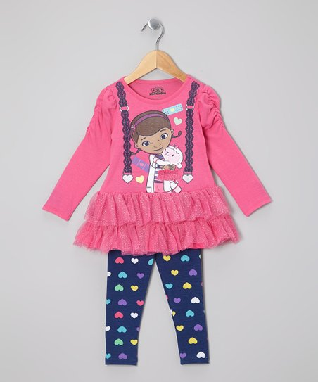 Pink Doc McStuffins Skirted Tunic & Leggings - Toddler