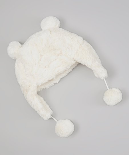 Ivory Bunny Faux Fur Trapper Hat