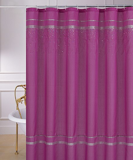 Fuchsia Sequin Glen Shower Curtain