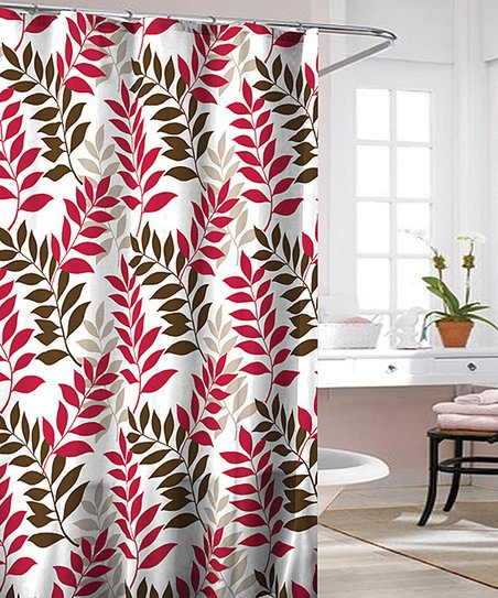 Red Sara Shower Curtain