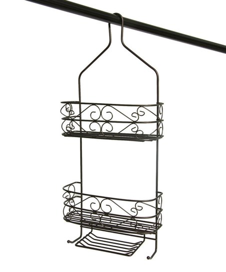 Black Heart Scroll Shower Caddy