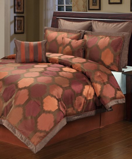 Rust Barcelona Eight-Piece Comforter Set