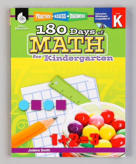 180 Days of Math: Kindergarten Workbook & CD