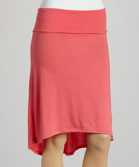 Coral Hi-Low Skirt
