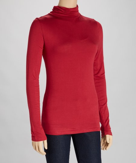 Burgundy Turtleneck
