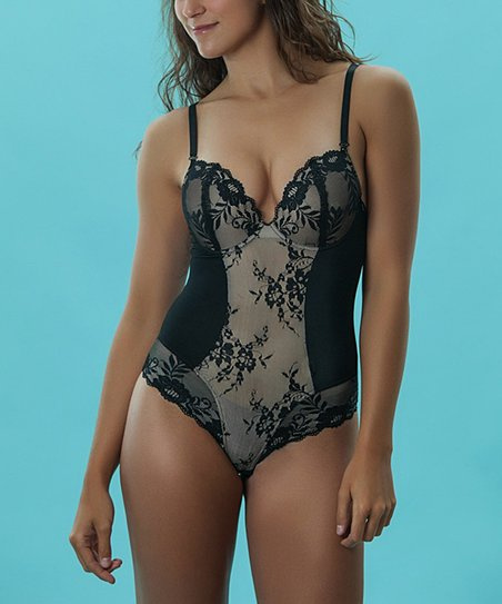 Black Lace Bodysuit - Women & Plus