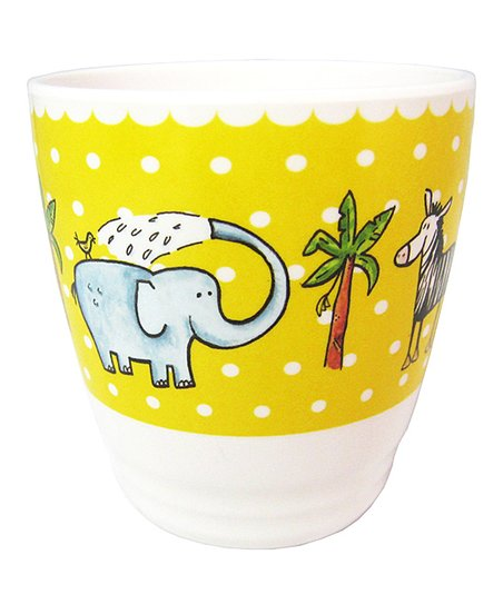 White & Yellow Polka Dot Jungle Cup