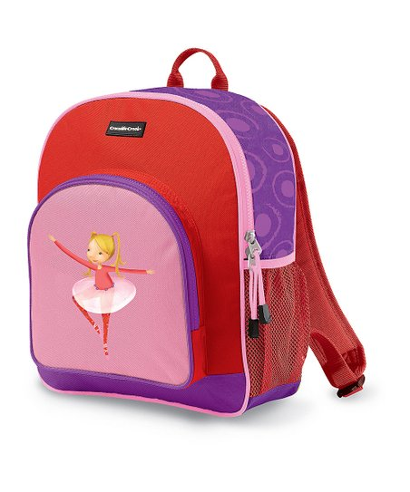 Red Ballerina Pocket Backpack