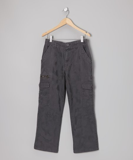 Dark Charcoal Camo Cargo Pants - Boys