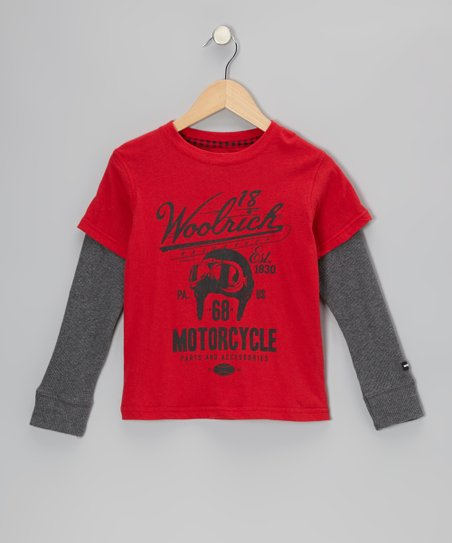 Red 'Motorcycle' Layered Tee - Infant, Toddler & Boys