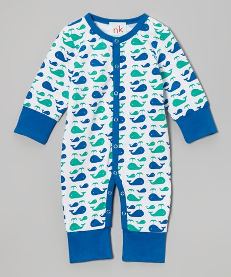 Blue Whale Playsuit - Infant