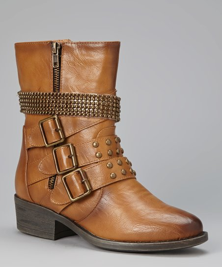 Camel Studded Harper Boot