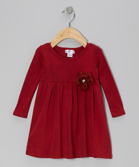 Ruby Red Gem Flower Dress