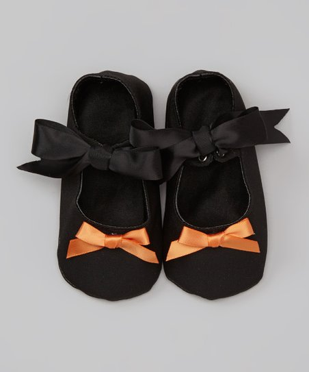 Black & Orange Bow Mary Jane