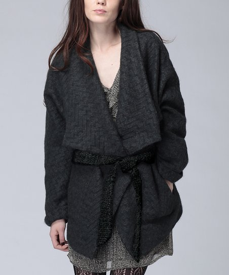 Forest Rita Belted Wool-Blend Jacket