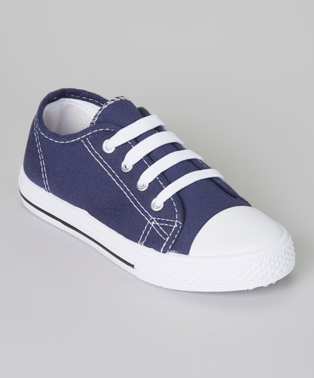 Dark Blue & White Shell-Toe Sneaker