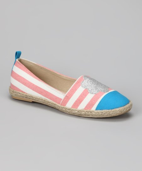 Pink Stripe Flower Flat