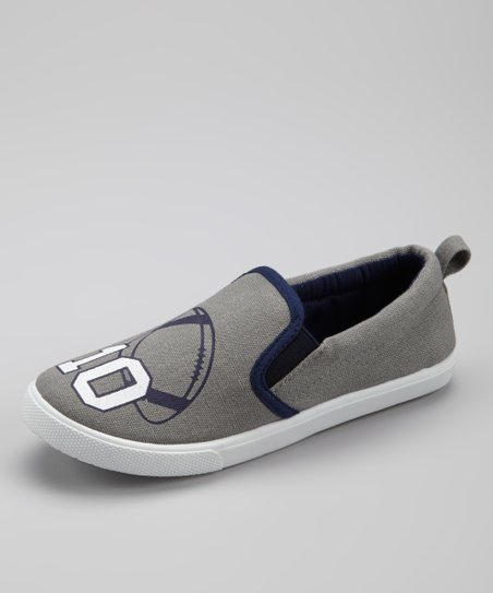 Gray Football Slip-On Sneaker