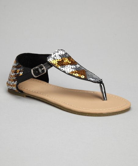 Black Sequin Sandal