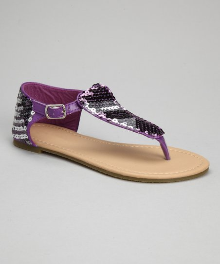 Purple Sequin Sandal