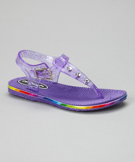 Purple Glitter Jelly Sandal