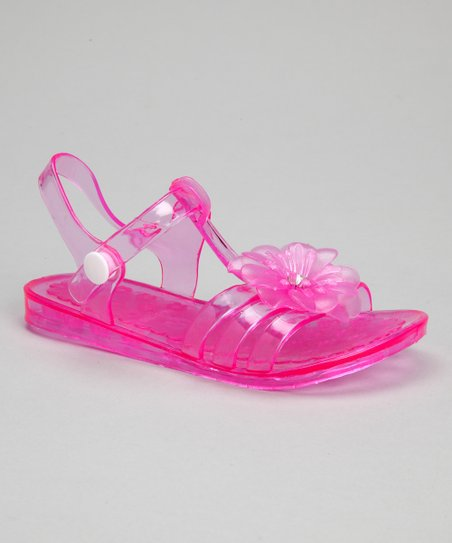 Fuchsia Flower Jelly Sandal