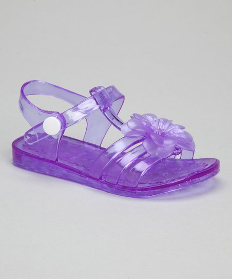 Purple Flower Jelly Sandal