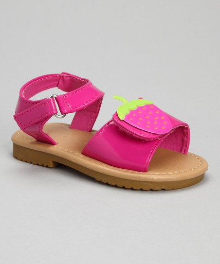 Fuchsia Patent Strawberry Sandal