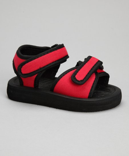 Red & Black Nubuck Sandal