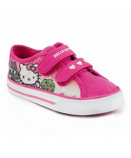 Pink Heart Hello Kitty Double-Strap Sneaker