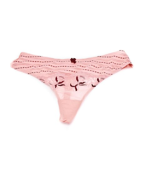 Coral French Charm Thong - Women & Plus